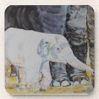 Elefante del bebé con la mamá posavasos