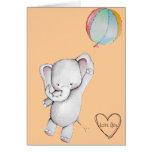 Elefante del bebé con la tarjeta de felicitación d