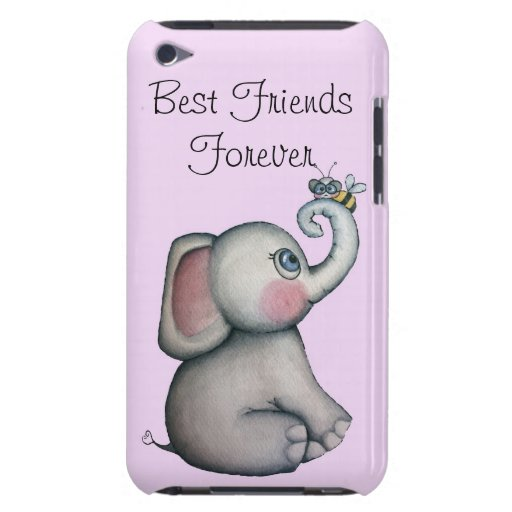 Elefante del bebé con rosa de la caja de iPod de l iPod Touch Case-Mate Cárcasas