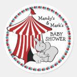 Elefante del bebé de la tienda de circo pegatinas