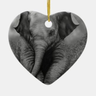Elefante del bebé ornamento para arbol de navidad