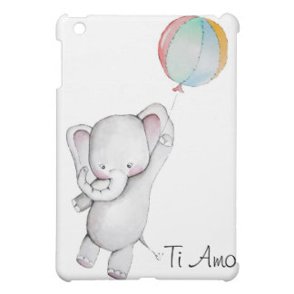 Elefante del bebé del Amo del Ti con caso del iPad