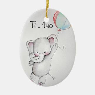 Elefante del bebé del Amo del Ti con el ornamento  Ornamento Para Reyes Magos