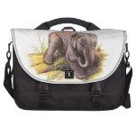Elefante del bebé del vintage bolsas para portátil