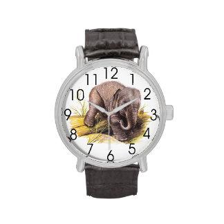 Elefante del bebé del vintage relojes de pulsera