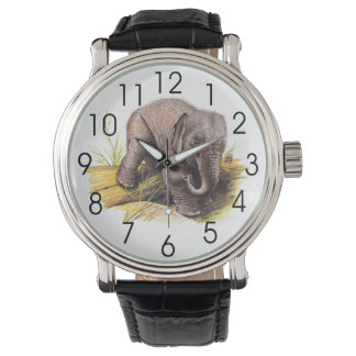 Elefante del bebé del vintage reloj de mano