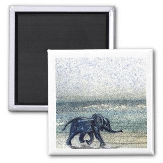 Elefante del bebé en el imán de la playa