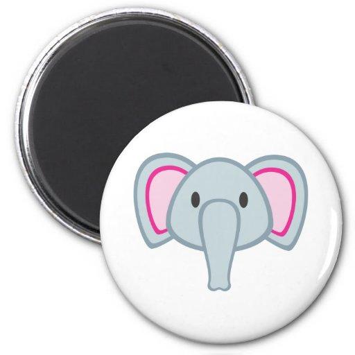 Elefante del bebé imán redondo 5 cm