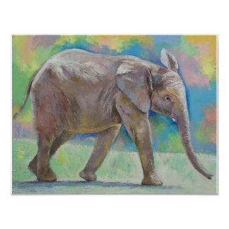 """Elefante del bebé invitación 4.25"""" x 5.5"""""""