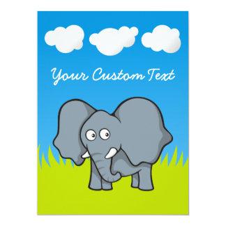 """Elefante del bebé invitación 6.5"""" x 8.75"""""""