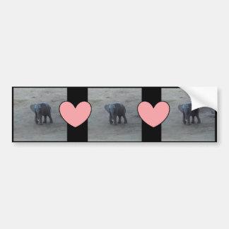 Elefante del bebé y pegatina para el parachoques pegatina para auto