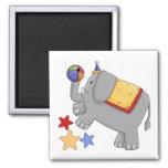 Elefante del circo de los niños iman de frigorífico