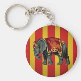 elefante del circo del vintage llavero redondo tipo pin
