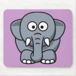 Elefante del dibujo animado alfombrilla de ratones