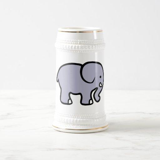 Elefante del dibujo animado tazas de café