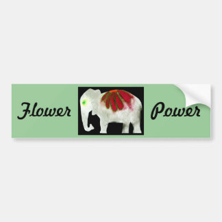 Elefante del flower power pegatina de parachoque