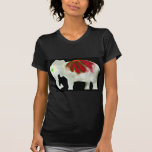Elefante del flower power camisetas