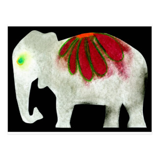 Elefante del flower power tarjeta postal