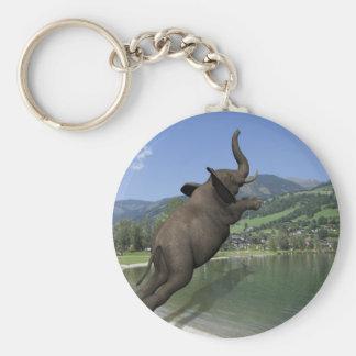 Elefante del fracaso de Belly Llavero Redondo Tipo Pin