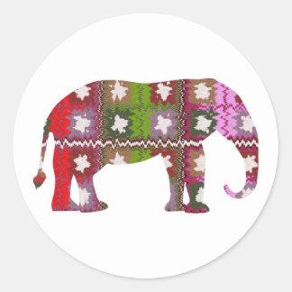 Elefante del GALÁN Pegatina Redonda