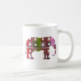 Elefante del GALÁN Taza Básica Blanca