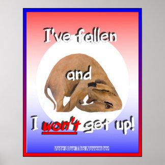 Elefante del GOP ¡ He caído y no me levantaré