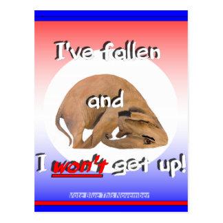 Elefante del GOP: ¡'He caído y no me levantaré! ' Tarjeta Postal