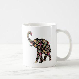 Elefante del Hippie Taza Básica Blanca