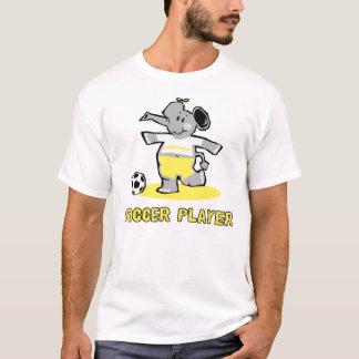 Elefante del jugador de fútbol playera