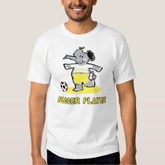 Elefante del jugador de fútbol remera