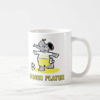 Elefante del jugador de fútbol tazas