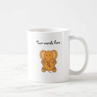 Elefante del naranja del bebé taza