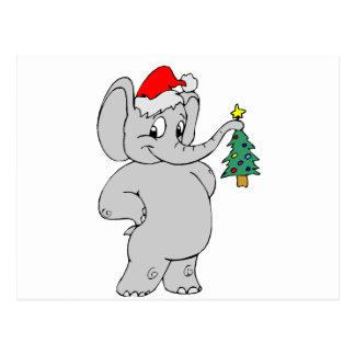 Elefante del navidad postal