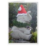 Elefante del navidad tarjetón