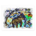 Elefante del Nublar-Color Postal