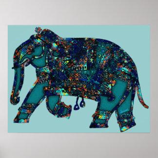 Elefante del ónix póster