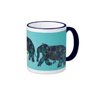 Elefante del ónix taza a dos colores