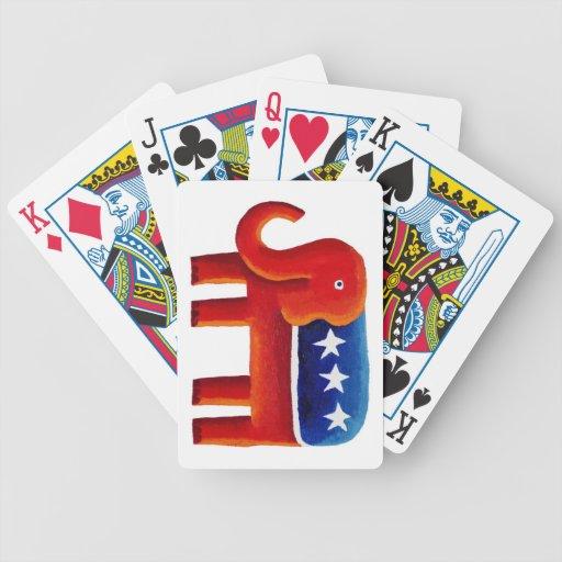 Elefante del Partido Republicano Baraja Cartas De Poker