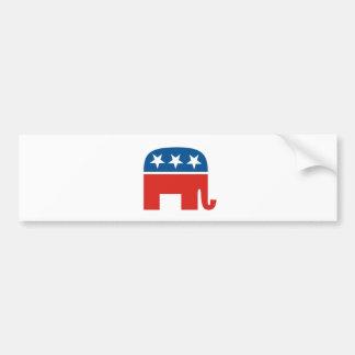 elefante del Partido Republicano de los Estados Un Pegatina De Parachoque