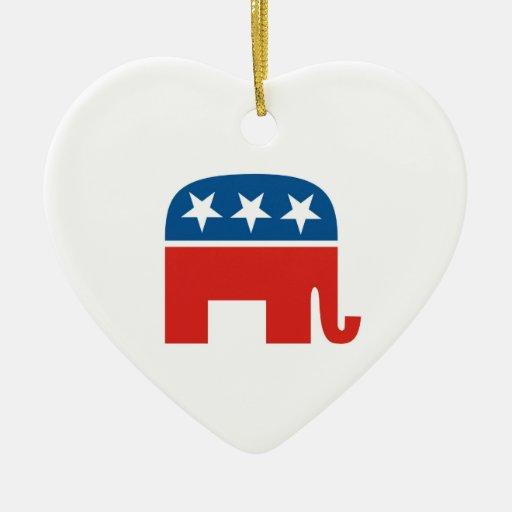 elefante del Partido Republicano de los Estados Un Ornamentos De Reyes