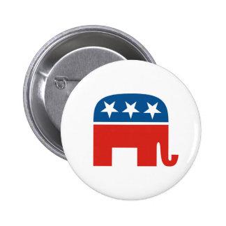 elefante del Partido Republicano de los Estados Un Pin Redondo De 2 Pulgadas