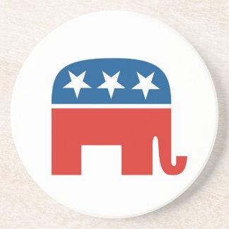 elefante del Partido Republicano de los Estados Un Posavasos Personalizados