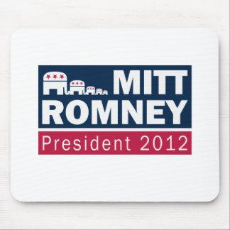 Elefante del presidente 2012 republicano de Mitt R Tapetes De Ratón