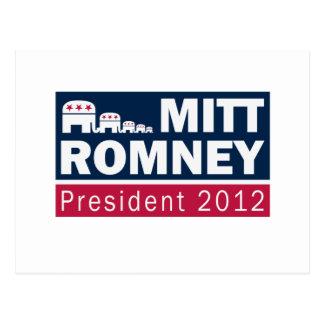 Elefante del presidente 2012 republicano de Mitt Postal