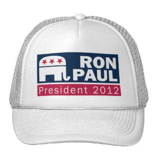 Elefante del presidente 2012 republicano de Ron Pa Gorro De Camionero