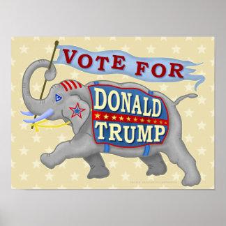 Elefante del presidente 2016 republicano de Donald Póster