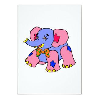 Elefante del remiendo invitacion personalizada