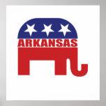 Elefante del republicano de Arkansas Impresiones