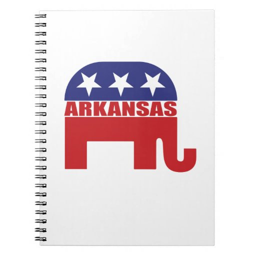 Elefante del republicano de Arkansas Libretas Espirales