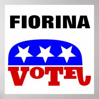 Elefante del republicano de Carly Fiorina del voto Póster